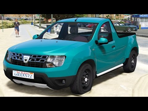 gta v mods dacia duster pick up youtube. Black Bedroom Furniture Sets. Home Design Ideas