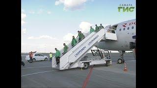 Сборные Дании и Австралии прибыли в Самару для очной встречи