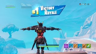 "FORTNITE First Win with DARK ""SENTINEL"" SKIN (""ROBOT"" OUTFIT Showcase) SEASON 9 PASS BATTLE"