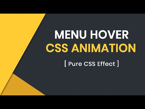 Creative CSS Menu Hover Animation | CSS Menu Hover Effects