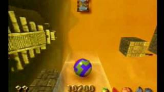 Kula World Playstation Gameplay PS1 Rollaway  (www.chilloutgames.co.uk)