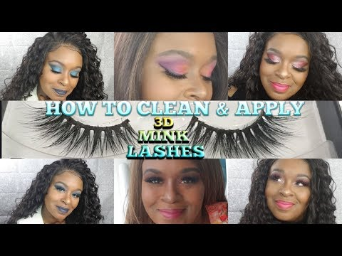 EYELASHES TUTORIAL! HOW I CLEAN & APPLY MY 3D MINK LASHES