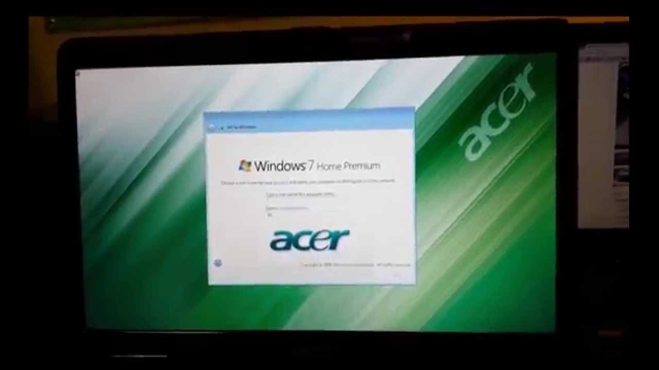 acer laptop factory recovery