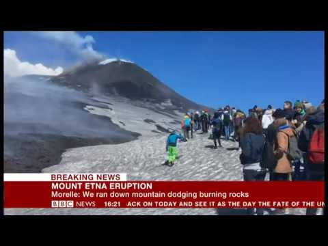 Etna explosion caught by BBC crew, Francesca Marchese's live comment