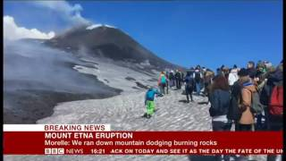 Etna explosion caught by BBC crew, Francesca Marchese