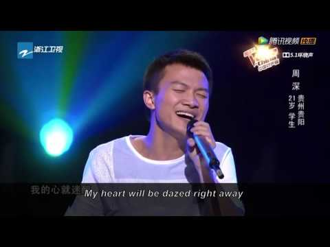 "The Voice of China - Zhou Shen sings ""Huan Yan""  (with English subtitles)"