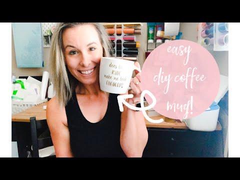 BIG NEWS + Easy DIY Coffee Mug With Your Cricut Machine And Vinyl | Beginner Friendly Gift