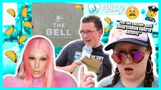 Checking Out THE TACO BELL HOTEL before JEFFREE STAR! 🌮 | Desert Mermaid Vlog 🌵🧜♀️♿
