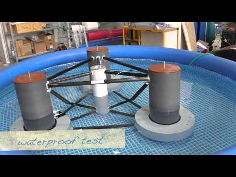 Scaled wave tank tests of a semisubmersible floating 10MW wind turbine | INNWIND