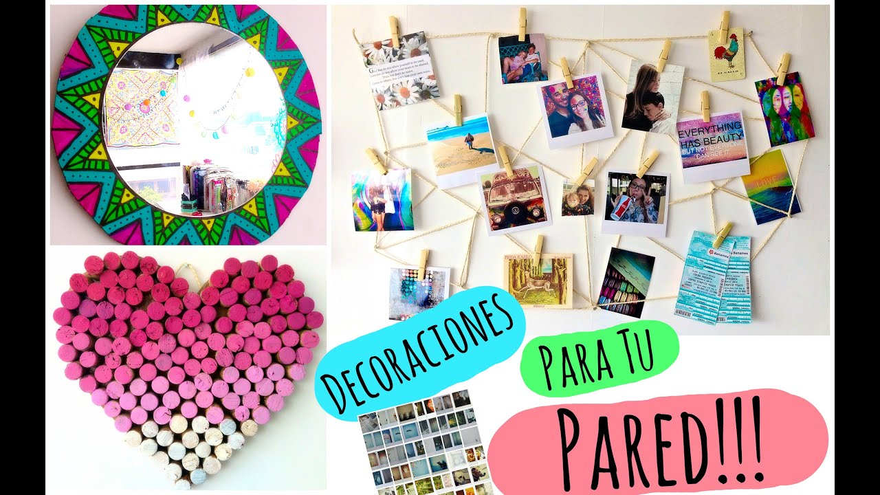 Decora tu pared diy youtube - Collage de fotos para pared ...