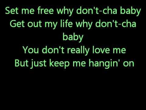 Glee You Keep Me Hangin' On with lyrics