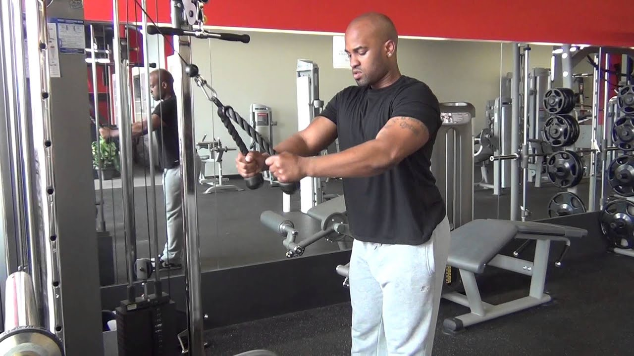 Cable Rope Straight Arm Pulldowns Youtube