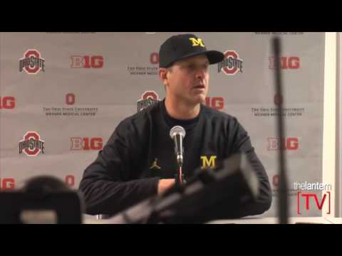Jim Harbaugh speaks after No. 2 Ohio State beats No. 3 Michigan 30-27