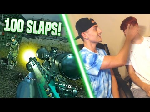 100 SLAPS 1v1 CHALLENGE on Modern Warfare Remastered! | Best In Class
