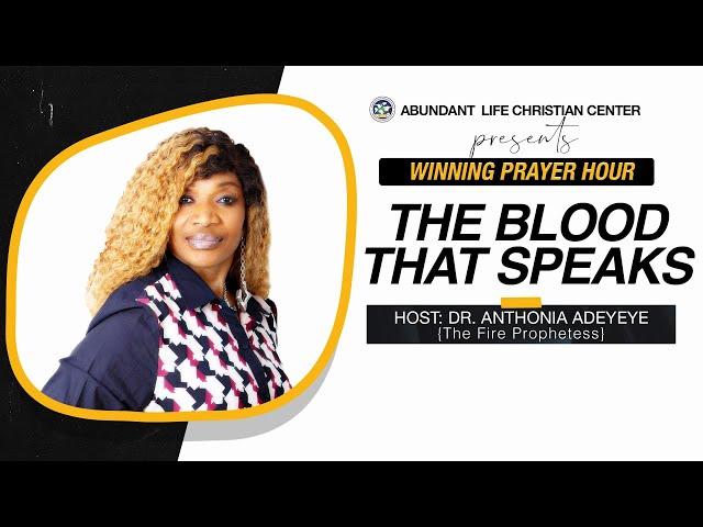 The Blood That Speaks   Dr. Anthonia Adeyeye   ALCC Winners House