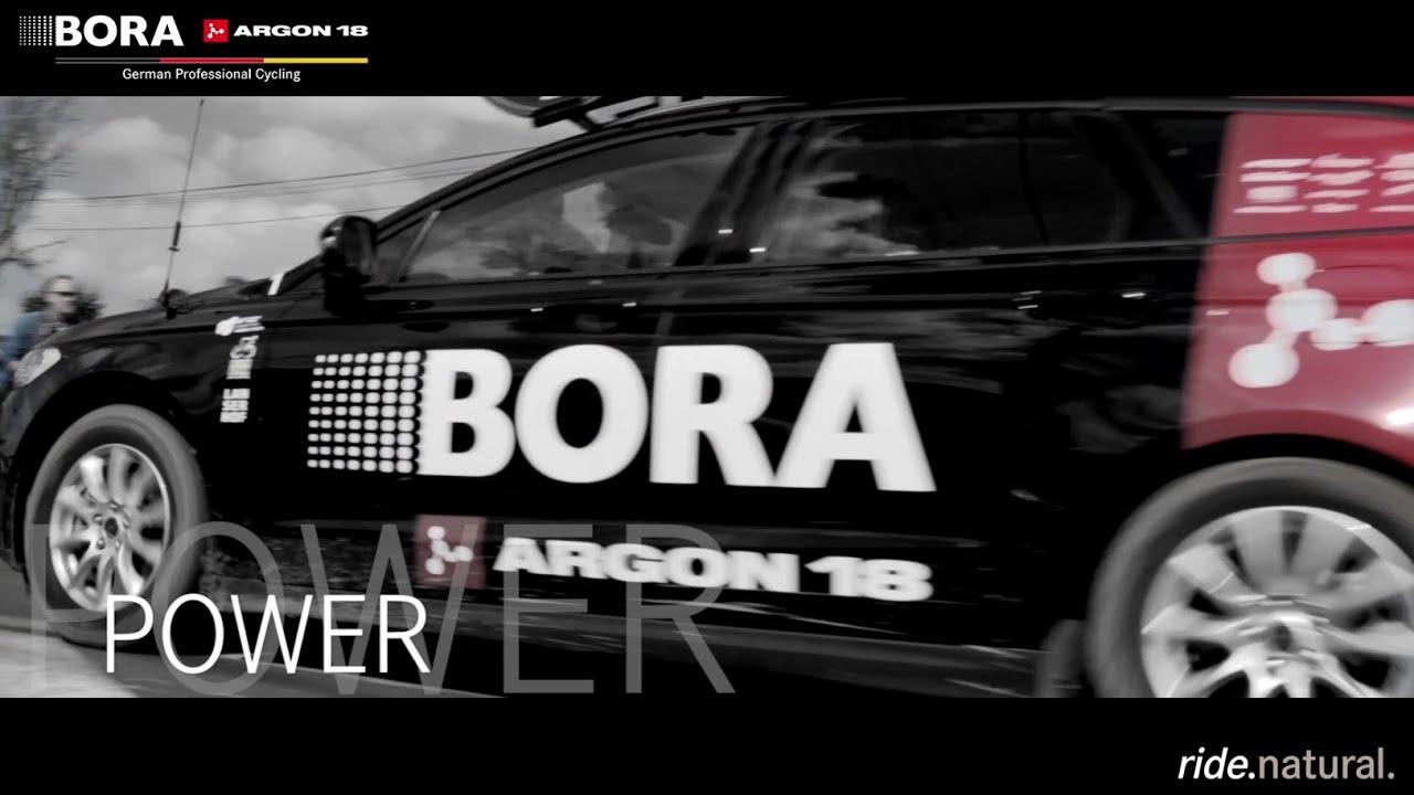 tour de france team bora argon 18 und auto eder youtube. Black Bedroom Furniture Sets. Home Design Ideas