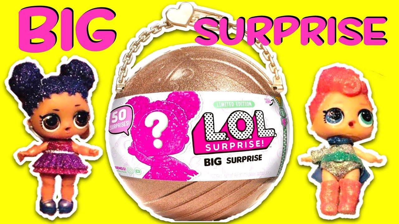LOL Surprise Big Surprise Doll Limited Edition Gold 50 Surprises Series Glitter