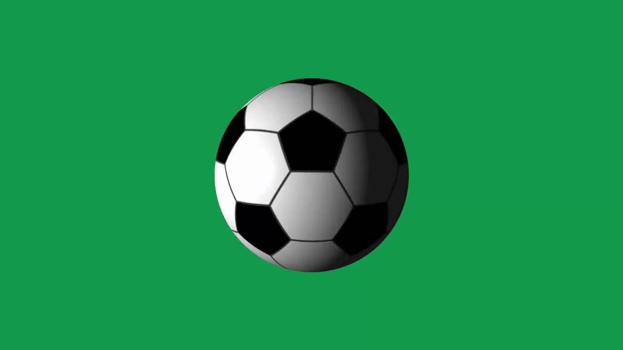 Bola de Futbol Girando - Soccer Ball Spinning [Fundo Verde
