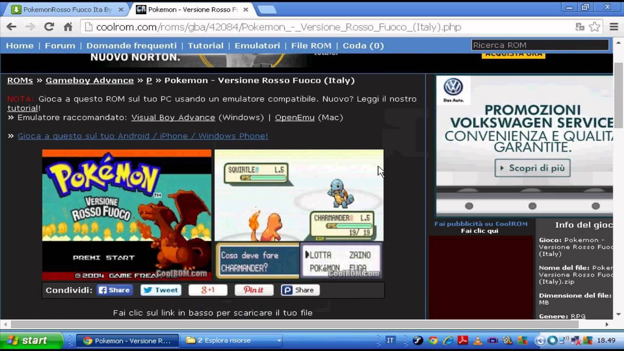pokemon rosso fuoco per pc
