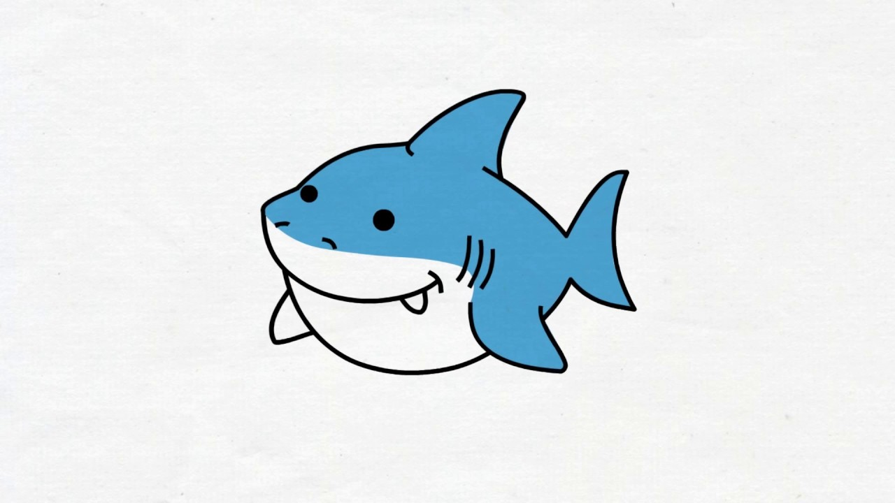 Baby Shark Cartoon Drawing   pictandpicture.org  Baby Shark Cart...