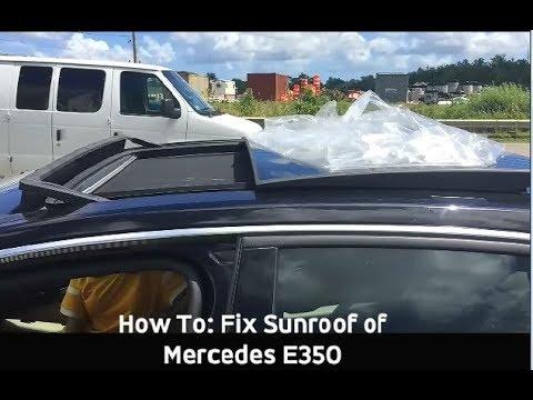 Sunroof Stuck- Manual Easy Fix + Overhead Removal Mercedes E350 2010-2018  sedan (W212)