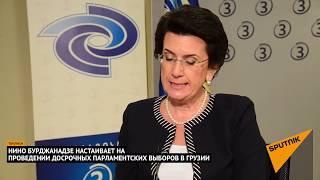 """Бурджанадзе: """"Грузинская мечта"""" использует созданную Саакашвили партию как пугало"""