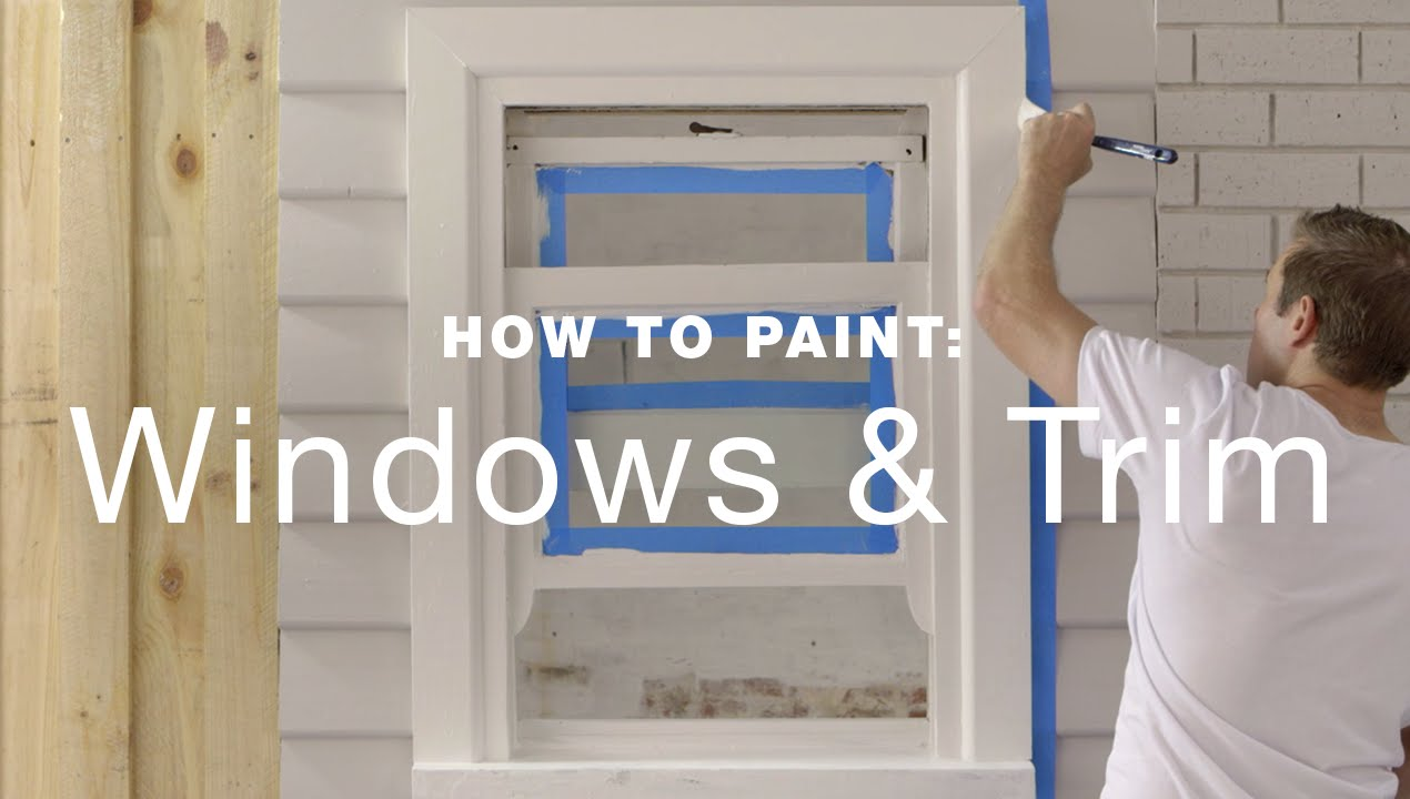 How to paint an exterior sash window  YouTube