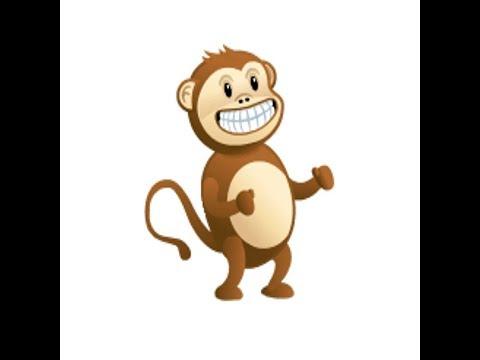 dancing, climbing monkey on skype - YouTube