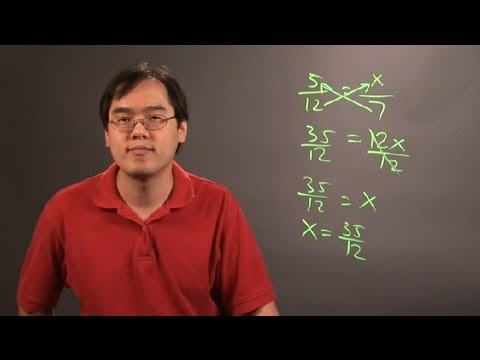 How to Solve Proportions Using Cross Products : Number Theory Education