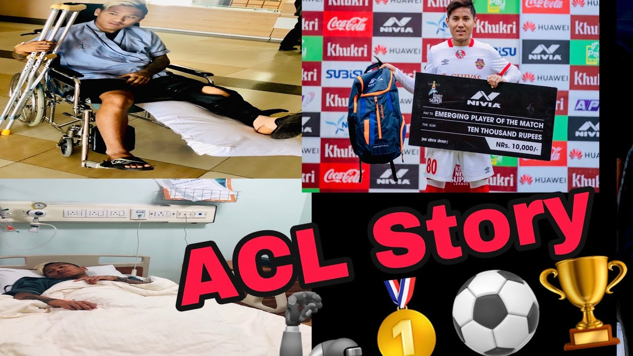 My Acl Story | Left Knee Surgery | Sad And Happy Momento 😞☺️ | Never Give Up 🦾🙏 | Dona Thapa 🍫⚽️