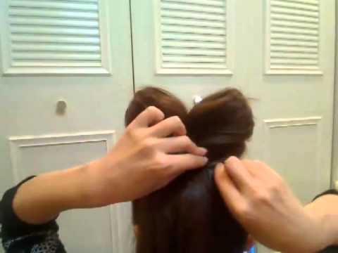 Прическа _Бант__ как сделать бант из волос.flv