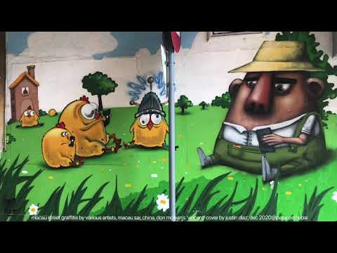 macau street graffiti, various artists, 'vincent' cover song by justin diaz, dec 2020@papa osmubal
