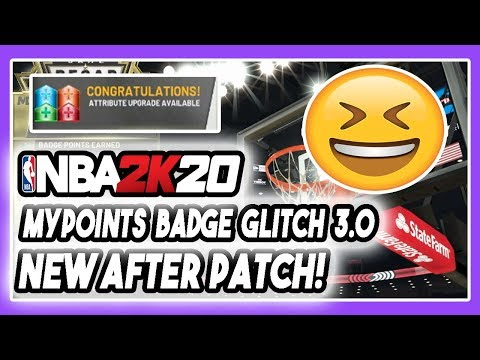 NBA 2K20 NEW FASTEST MAX BADGE + MYPOINTS GLITCH 3.0 AFTER PATCH! XBOX AND PS4! DENSKI UPDATE!