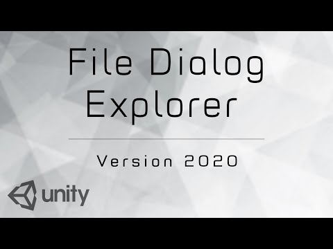 Unity 3D - File Dialog Explorer Official Review
