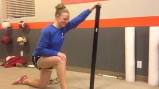 Lunge with vertical bar
