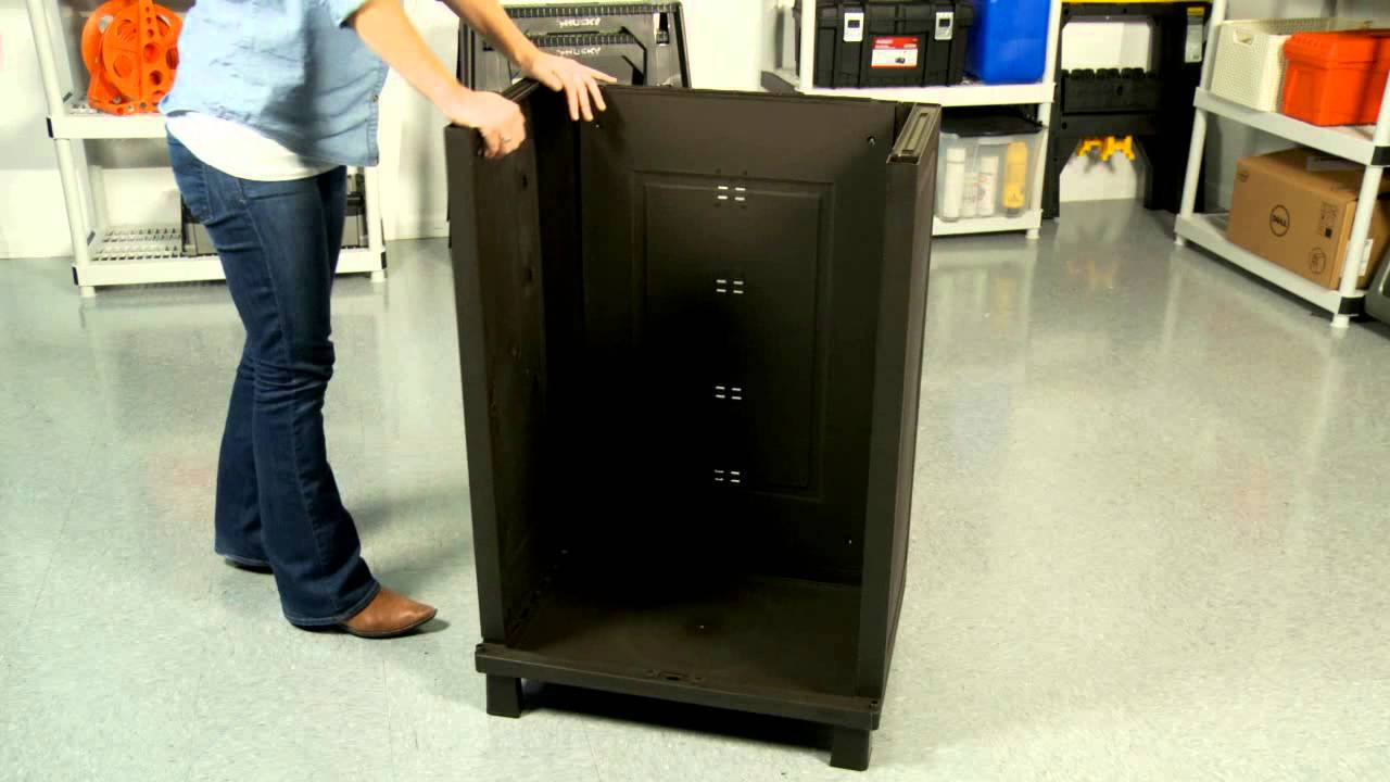 Keter's Rattan-Style Base Cabinet - Assembly Video - YouTube