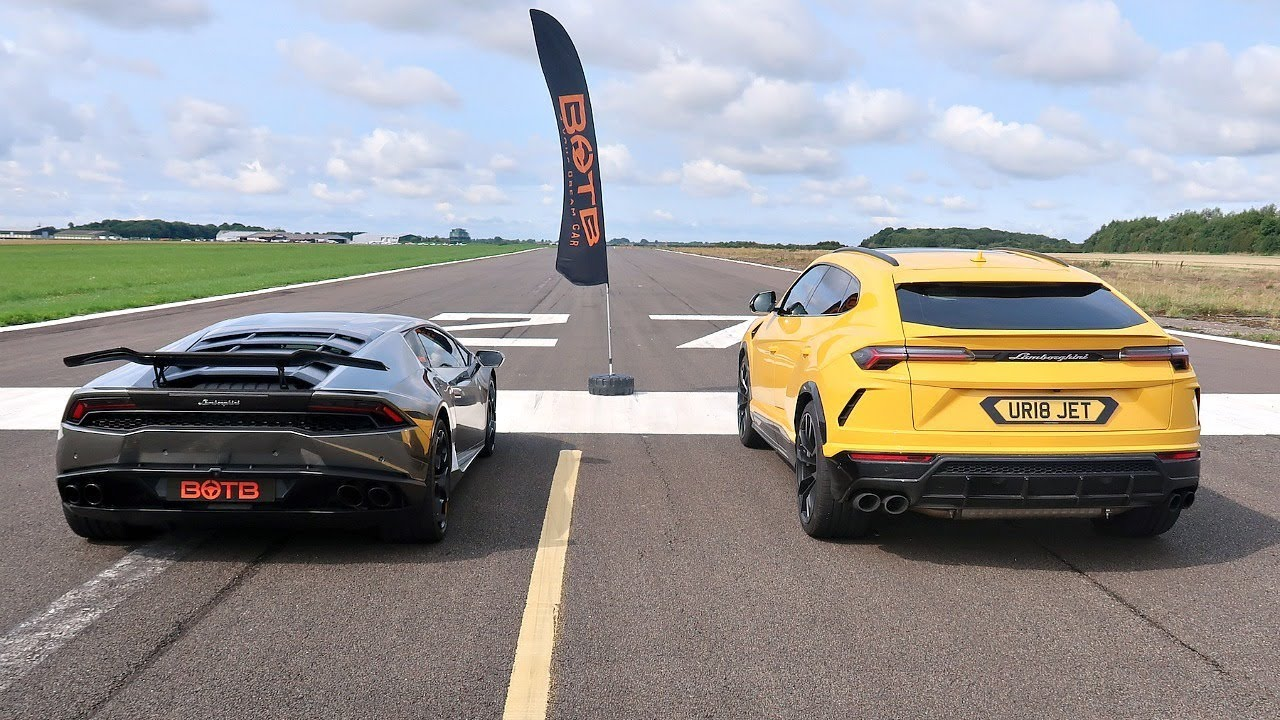 Drag Race Lamborghini Urus Vs Huracan Youtube
