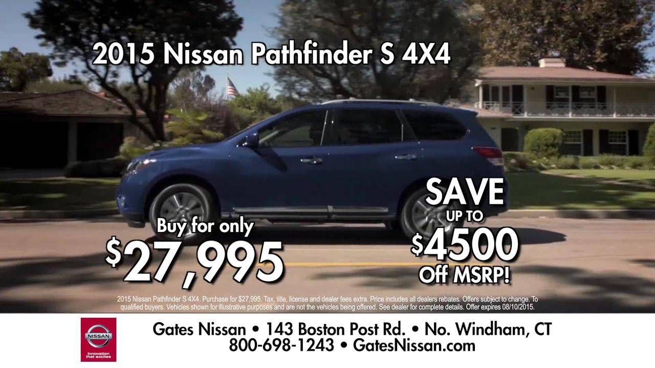 Gates Nissan North Windham CT Pathfinder July 2015 - YouTube