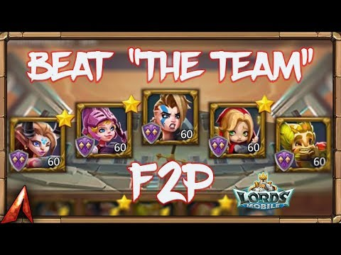 "Beat ""The Team"" In Colosseum Completely F2P! Lords Mobile"