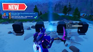 Place Alien Light Communication Device on Mountain Tops - Fortnite Week 3 Legendary Challenges Guide