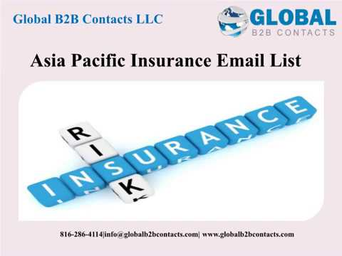 Asia Pacific Insurance Email list
