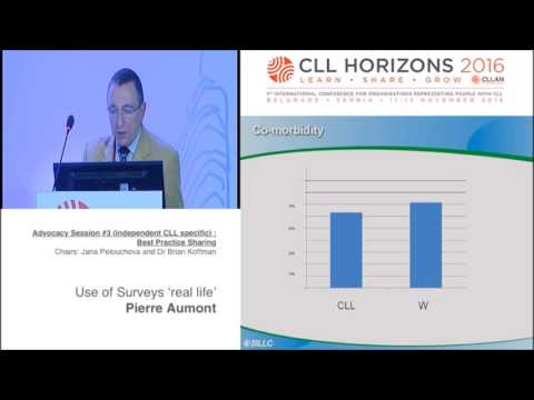CLL Horizons 2016: Use of Surveys 'real life'. Pierre Aumont