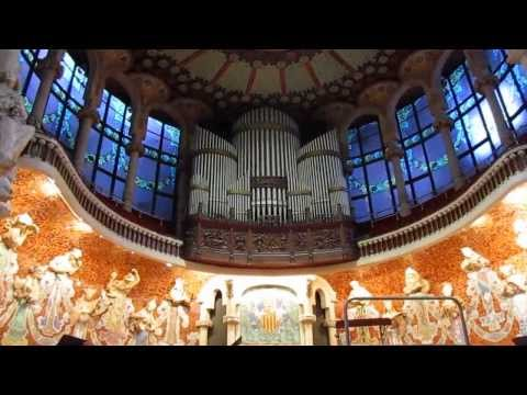 Palau de la Música Catalana Pipe Organ Playing