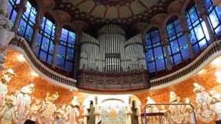 Palau de la Música Catalana Pipe Organ Playing