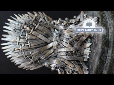 Iron Throne cake topper Game of Thrones cakes GOT tutorial