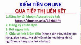 Kiếm tiền online - Kiếm tiền online qua tiếp thị liên kết accesstrade