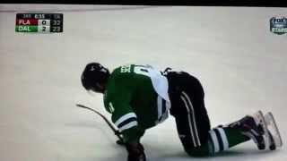 Tyler Seguin Injury vs Panthers 2/13/15
