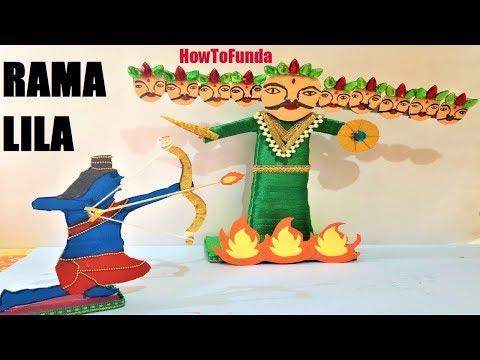 RAVANA MAKING | Ravan | Rama making | Ravana Killing | Ravana Fire | Kids | Dussehra speical