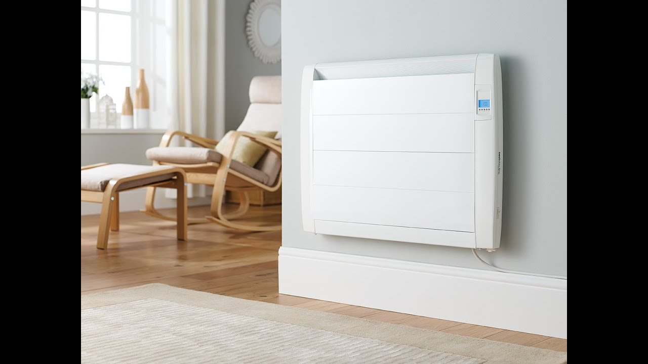 Slimline electric heaters wall mounted - Slimline Digital Electric Radiator Video From Best Electric Radiators Youtube