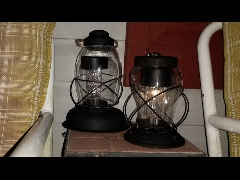 2 easy Dollar Tree DIY vintage style lanterns farmhouse  style/outdoor garden decor